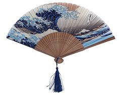 DawningView Japanese Handheld Folding Fan, with Tradition... https://www.amazon.com/dp/B003VMUOMI/ref=cm_sw_r_pi_dp_9HfGxbFR8PWBF