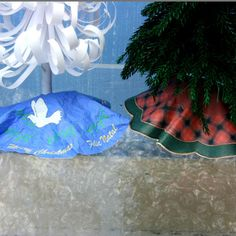 Make Printable Miniature Christmas Tree Skirts in Three Patterns and Four Scales