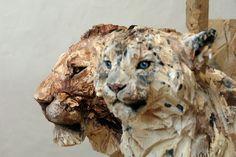 Sculptures   Site du sculpteur Jürgen Lingl-Rebetez - [lion_leopard_front.jpg]