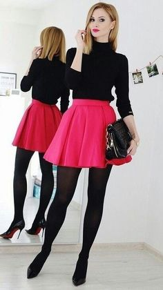 Classy Winter Outfit Ideas to Career Women 05 Hipster Outfits, Mode Outfits, Skirt Outfits, Classy Outfits, Casual Outfits, Fashion Outfits, Womens Fashion, Fashion Trends, Party Outfits