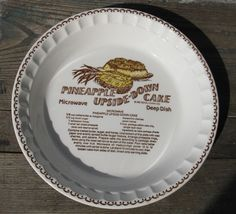 vintage royal china deep dish pie plate by rivertownvintage