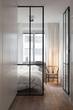 best small apartment ideas with one bedroom design freshome One Bedroom Apartment, Home Bedroom, Bedrooms, Apartment Door, Nordic Bedroom, Master Bedroom, Modern Bedroom, Minimalist Bedroom, Contemporary Bedroom