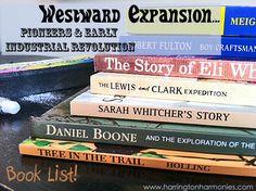 Homeschool Books for Westward Expansion | Harrington Harmonies