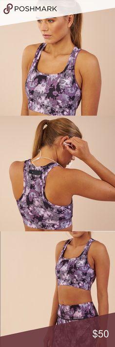 90d5288506717 BNWT in original unopened GYMSHARK bag! LIMITED EDITION Chalk pink and  purple CAMO camouflage Gymshark Sports Bra. Center back pocket ...