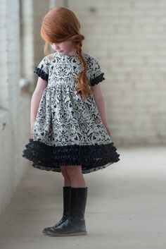 Persnickety Charcoal Seraphina Dress