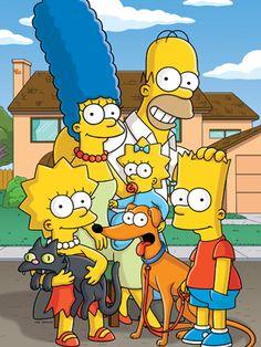 Os Simpsons, uma série criada por Matt Groening com Harry Shearer, Hank Azaria…