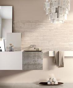 Colore Ivory della gamma da rivestimento per bagno Lace  http://www.supergres.com/your-home/rivestimenti/item/162-lace  #Bathroom #RivestimentoBagni #WallTiles #CeramisOfItaly