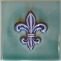 Bold Fleur de lis handmade artisan tile Victorian Tiles, Residential Construction, Decorative Tile, Building Materials, New Orleans, Interior And Exterior, Pattern, Image, Construction Materials