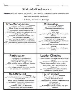 free parent teacher conference form teaching pinterest