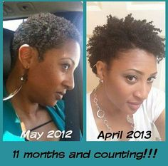 SO inspiring! I did my big chop in May and I'm patiently waiting to get to the point where I can do twist outs and other fun things with my hair!!!! :)