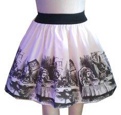 Original Alice Illustration Full Skirt