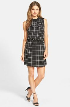 Vince Camuto Drawstring Mock-Neck Dress | Nordstrom