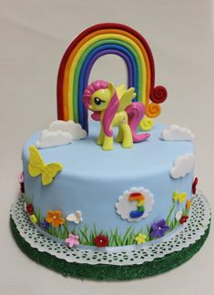 My Little Pony Cake My Little Pony Cake, My Little Pony Birthday Party, Birthday Cake Girls, Rainbow Dash Cake, Bolo Minnie, Cute Desserts, Novelty Cakes, Girl Cakes, Cute Cakes