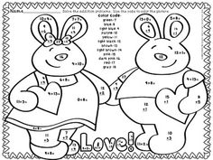 FEBRUARY (VALENTINE) COLOR BY CODE ADDITION SUMS 0-20 This file includes 11 math color by code pages that cover the basic addition facts with sums of 0-20.  The common core standards covered are listed on each page. These sheets can be used as centers, bell ringers, homework, skill reinforcement, work for early finishers... Use of these pages encourages and reinforces skills taught; yet the students are having fun while learning. My kiddos love these sheets! TeachersPayTeachers.com $
