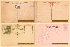 Vintage Postcard Backs Set 5