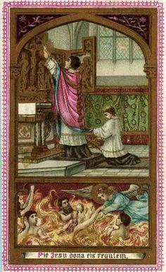 PRINCIPALES FIESTAS CATOLICAS: La Santa Misa proporciona un gran alivio a las almas del purgatorio