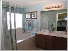 Image result for built in bathroom cabinets