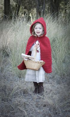 Little Red Riding Hood Cape- Crochet Pattern- Child Sizes- permission to sell finished product. $4.95, via Etsy.