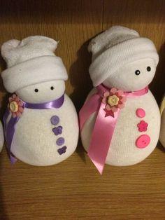 Girly sock snowmen