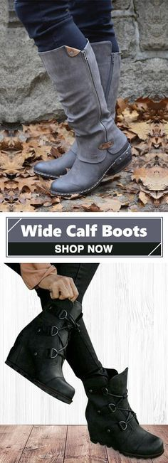5b0f910ce1b3 Hot Sale!Women s Vintage Side Zippers Boots Tassel Wide Calf Boots