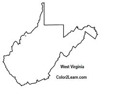 virginia state map coloring pages | West Virginia State outline Coloring Page | CC Cycle 3 ...