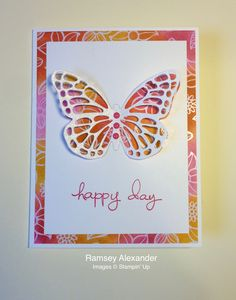 Stampin' Up! Butterfly thinlits Endless Birthday Wishes Irresistibly Floral DSP Wink of Stella Brights Enamel Shapes