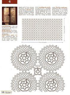 A beautiful crochet cafe curtain i like the crystal drops along the bottom edge – Artofit Art Au Crochet, Crochet Motifs, Crochet Home, Love Crochet, Beautiful Crochet, Crochet Doilies, Knit Crochet, Crochet Gratis, Crochet Flower Patterns