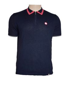 Lowry PRETTY GREEN 1960s Mod Tipped Knit Zip Polo Medium Navy BNWT Fabulous #PrettyGreen #PoloShirts