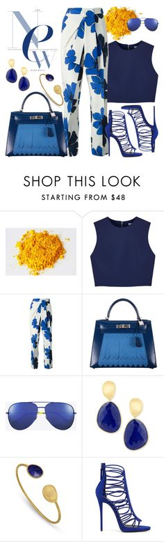 """""""Sunday"""" by chrisger ❤ liked on Polyvore featuring Alice + Olivia, Chloé, Hermès, Yves Saint Laurent and Marco Bicego"""
