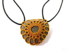 crochet and stone