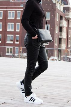 quality design 17915 43b9d Chocolate Heels   All black   Céline trio bag   Adidas Superstar
