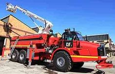 CAT Articulated Fire Truck a World First