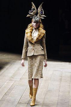 Alexander McQueen c.2008?   Love the headpiece