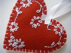 red felt heart | by sew ritzy~titzy #feltornaments