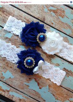 LOVE! wedding garter navy blue bridal garter navy blue by venusshop ...