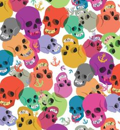 """Check out my art piece """"Skulls And Anchors"""" on crated.com"""