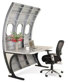 FOTOSPECIAL. Vliegtuigonderdelen worden hippe meubels (2) - Het Nieuwsblad#photoset