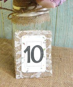 Wedding Table Numbers Elegant Rustic Chic by LazyCaterpillar, $48.00