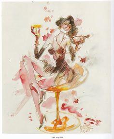 """Hugo Pratt, extrait des """"Périples Imaginaires"""", recueil d'aquarelles et d'illustrations diverses, Casterman - 2005"""