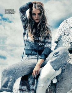 I just knit my old woolly socks longer - apparently I'll have to start knitting TROUSERS right away!   Vogue Russia