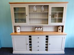 Bespoke Painted Dresser With Wine rack - Bespoke Kitchen and Dining Room Furniture - Pine Shop Bury Furniture, Decorating Blogs, Wood Dining Room, Dining Room Dresser, Built In Dresser, Dining Room Decor, Painted Dresser, Dining Room Furniture, Furniture Design