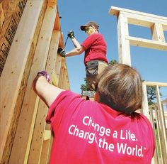 ALTON — Churchwomen from throughout Illinois are in Alton this week to raise some walls and otherwise give a big boost to local volunteers...