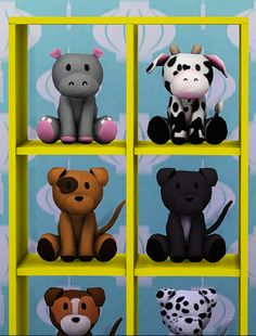 The Sims 4 | teanmoon: Cuddly Stuffed Animals | buy mode new objects kids room deco