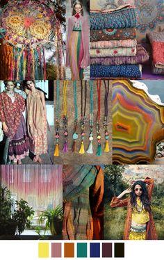 boho for the camper : black and color Colour Schemes, Color Trends, Color Patterns, Hippie Stil, Estilo Hippie, Fashion Design Inspiration, Color Inspiration, Color 2017, 2017 Colors