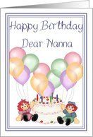 Rag dolls happy birthday Dear Nanna cake balloons and candles Card by Greeting Card Universe. $3.00. 5 x 7 inch premium quality folded paper greeting card. Birthday greeting cards & photo cards are available at Greeting Card Universe. We will mail the cards to you or direct to your loved ones. Let Greeting Card Universe help you find the best birthday card this year. This paper card includes the following themes: Bits N Bobs Designs, bitsnbobs, and bnb. Greeting...