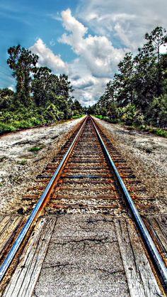Morning tracks  source Flickr.com Electric Locomotive, Steam Locomotive, Under The Tuscan Sun, Ferrat, Train Tracks, Model Trains, The Great Outdoors, Railroad Tracks, Paths
