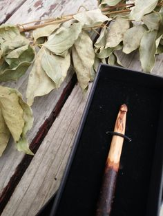 Hand carved, aromatic, and raw hand carved crochet hook.