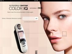 Sephora + Pantone Color IQ, Never question your foundation shade again!  A perfect match!