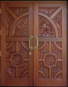 Wooden Door Design – Home Inspiration Wooden Door Entrance, Wooden Double Doors, Wooden Doors, Door Design, Home Garden Design, Wooden Front Doors, Exterior Doors