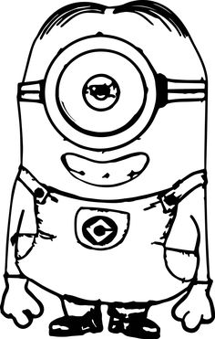 Cool Smile Minions Coloring Page